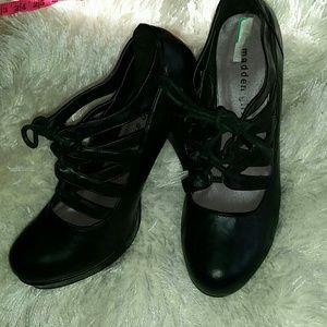 Black Madden Girl strapped heels